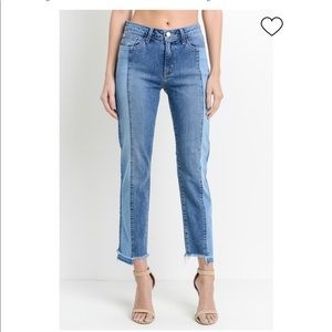 LIKE NEW Just Black Two-Toned Denim Jeans